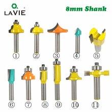 Roteador de madeira de haste de 8mm, fresa reta para limpeza e aparagem de madeira, canto redondo, 1 peça cortador para madeira mc02042