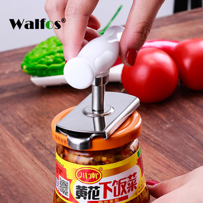 Adjustable Can Opener Stainless Steel Manual Can Opener Bottle Opener Easy Can Opener
