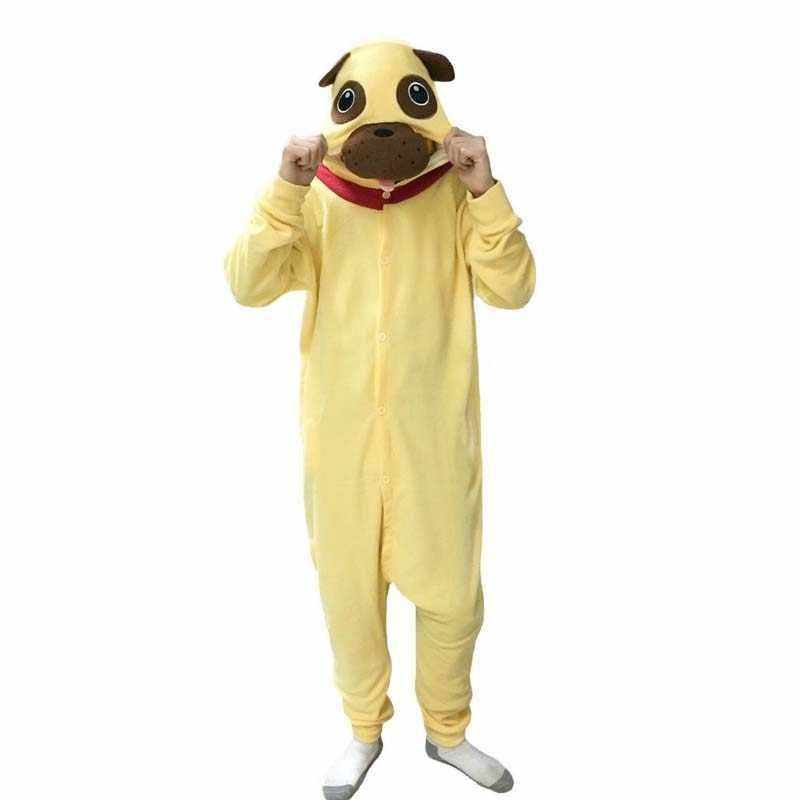 Костюм животного Косплей взрослые пижамы JP животные Мопс собака пижамы  домашние пижамы pijama c94c3da4e88a1