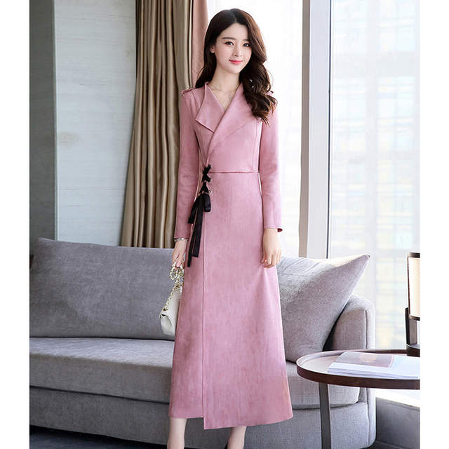 Online Shop New Brand Autumn Winter Long Dress Korea Style Long