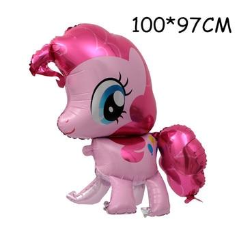 1PC 100*97CM Pink Horse Little Pony Unicorn Foil Balloons Helium Balloon Kids Toys Wedding Birthday Animal Party Decor Supplies 24