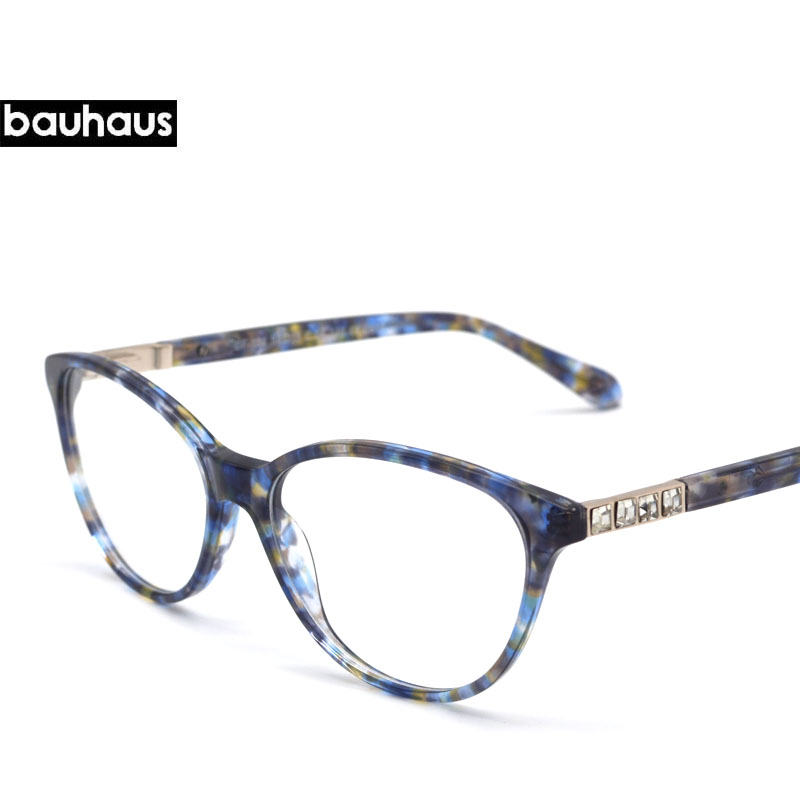 Full R ITALY Design Crystal Decoration Temple Eyewear Brand Designer ...
