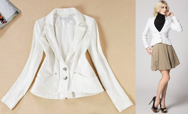 Chaqueta de vestir mujer blanca
