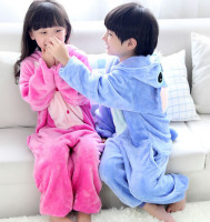 Unisex Kids Children Costume Cosplay Anime Animal Nightwear Onesie Sleepwear Blue Pink Stitch Party Halloween Pajamas