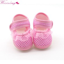 2018 Baby Girls Toddler Bow Flower Shoes Footwear Summer Baby Girl Cloth Soft Sole Shoes First Walkers M1(China)