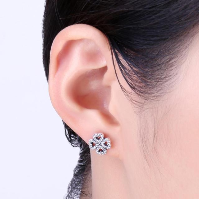 Dazzling Clovers Stud Earrings