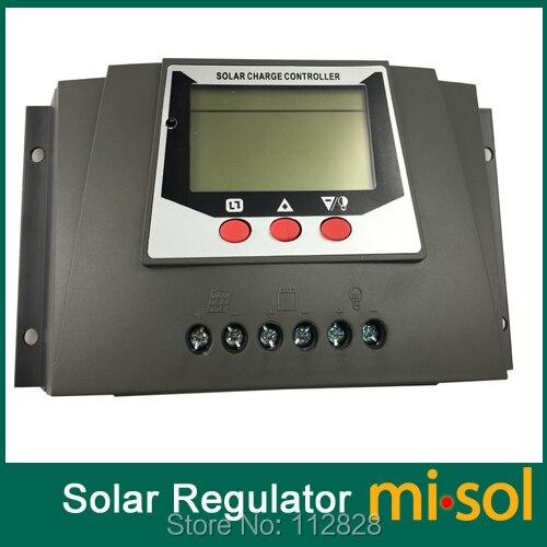 misol  solar regulator 30A 12V 24v solar charge controller PWM, for solar panel battery charging