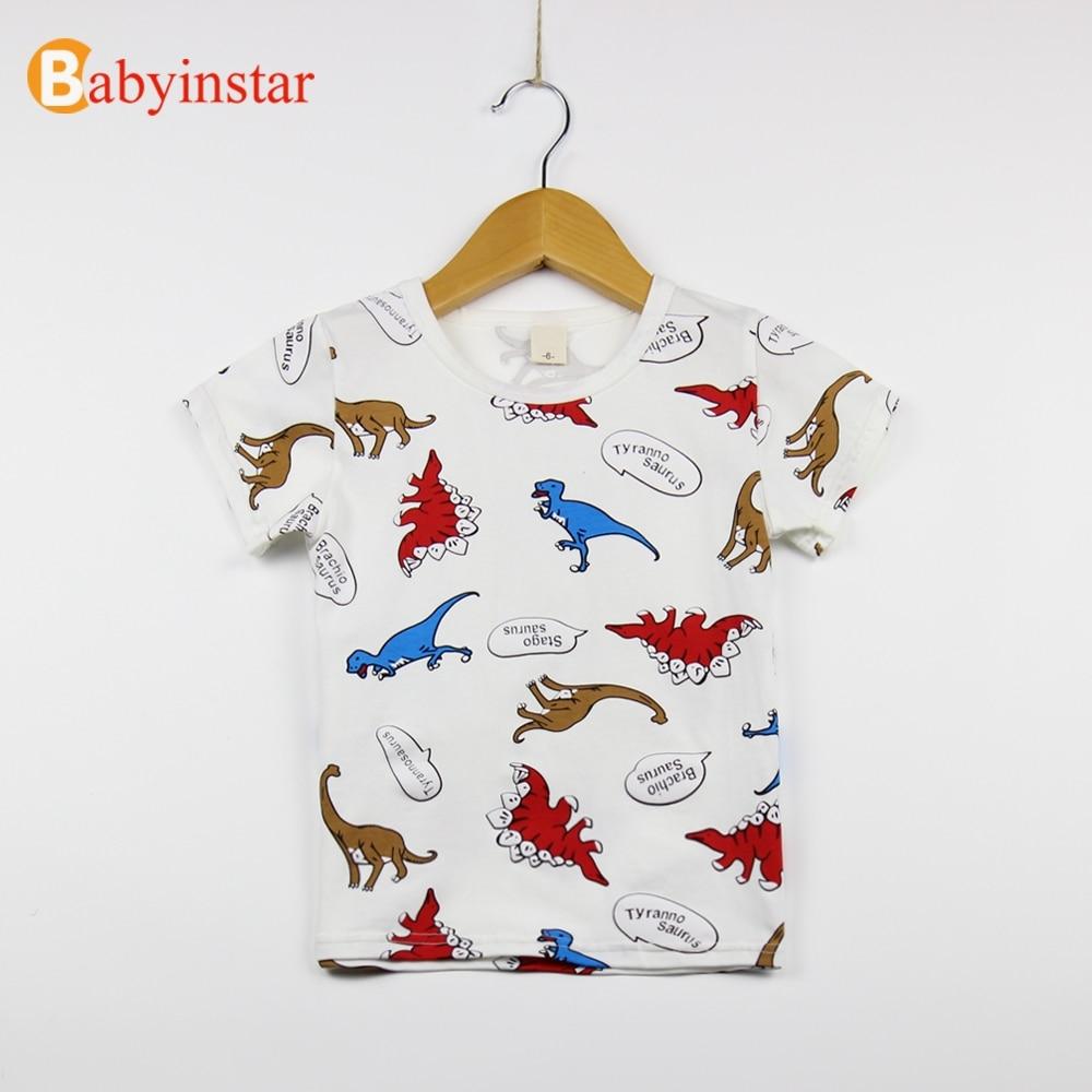 Babyinstar New Girls Boys Short Sleeve Printing Pattern T-shirt Children Summer Tops Style Kid Clothe Casual Kids Tops Tee
