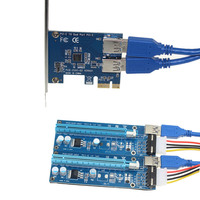 PCIe Riser Card 1 To 2 PCI E 1X To PCI E 16X Slot With USB