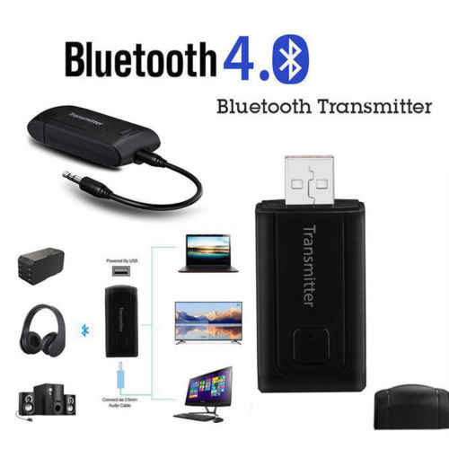 3.5mm Bluetooth V4 Transmitter Receiver Wireless A2DP Stereo Audio Music Adapter Dongle Audio Receiver For PC TV Headphones r10