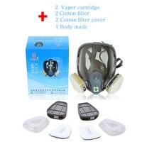 Comparável 6800 Segurança Máscara de Gás Rosto Cheio 7 Ternos Anti-poeira Pinte Cartucho de Vapor Orgânico Reutilizáveis máscaras de Proteção do Filtro