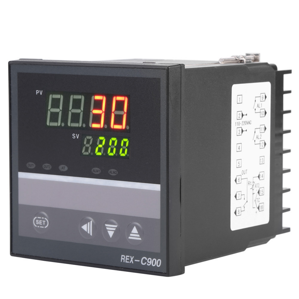 Digital <font><b>PID</b></font> Temperature Controller Thermometer Relay Output AC100-240V image