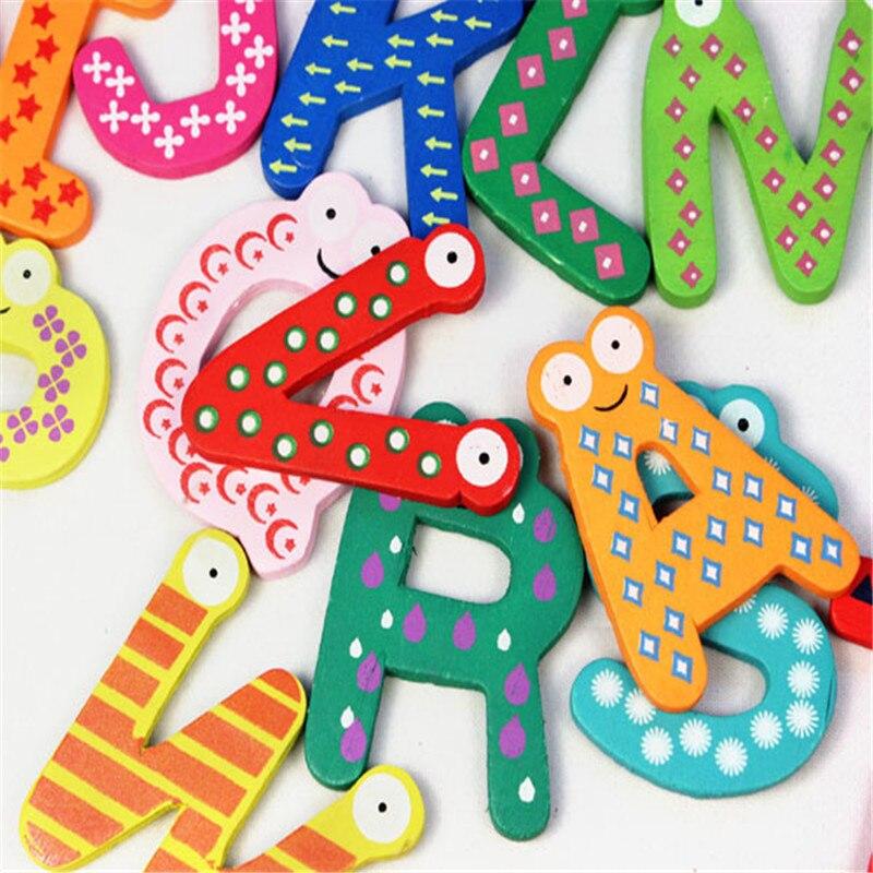 Chamsgend 26 Letters Houten Cartoon Magneet Kind Baby Educatief Speelgoed D # Dropshipping $ $ Lange Levensduur