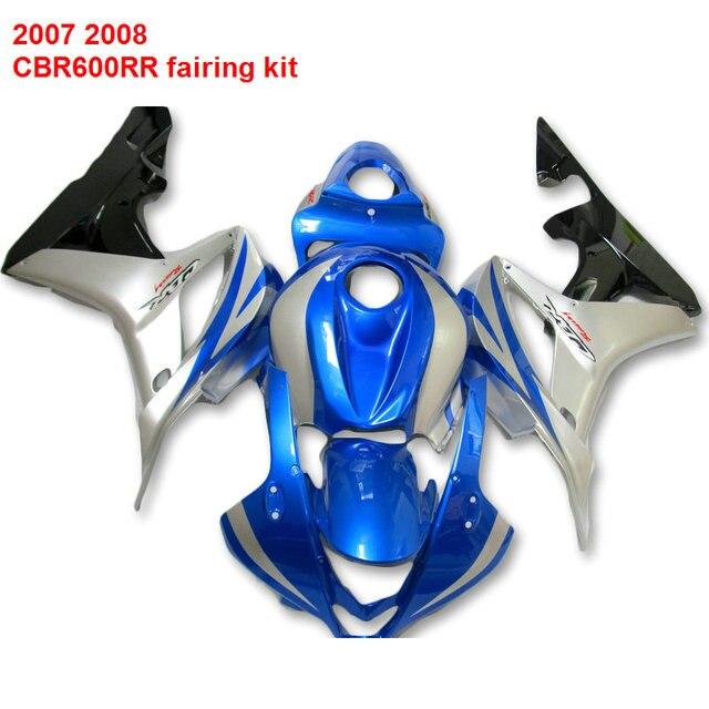 Kits De Carenagem Para Honda Cbr600rr 07 08 Sliver 2007 Azul Venda