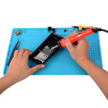 цена на 34x23cm Heat Resistant Silicone Pad Desk Mat Maintenance Platform Heat Insulation BGA Soldering Repair Station