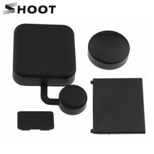 SHOOT 4 in 1 Housing Lens Cap Replacement Battery Door Side Door Cover For GoPro Hero 3+ 4 Black Silver Camera Go Pro Accessory