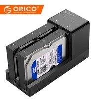 ORICO 2,5/3,5 дюймовый USB 3,0 для SATA HDD корпус док-станция супер Скорость жесткий диск Поддержка 10 ТБ 2 Dual отделения в hdd случае