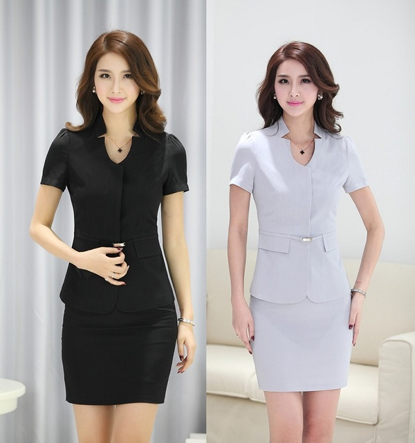 Spring summer 2015 uniform design business women suits for Office uniform design 2015
