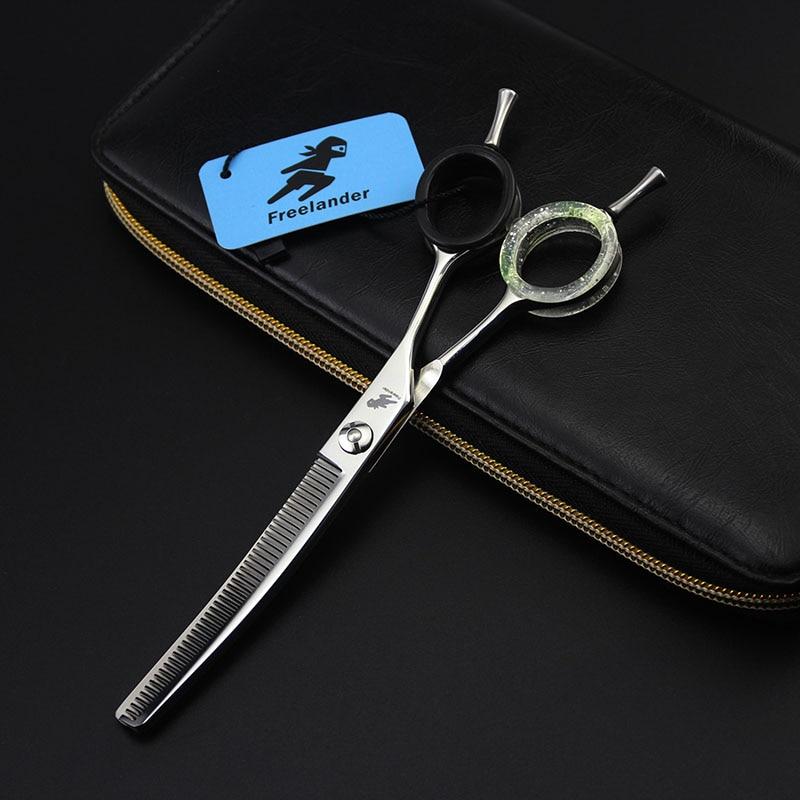 6.5 cal zębów dla zwierząt domowych zakrzywione degażówki nożyczki profesjonalne nożyce Dog Grooming Pet nożyczki do cięcia włosów Shark gęste zęby w Nożyczki dla psów od Dom i ogród na  Grupa 3