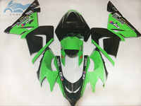 Motorcycle fairing kits for KAWASAKI Ninja ZX10R 2004 2005 ABS plastic aftermarket fairings kit 04 05 ZX 10R green black parts