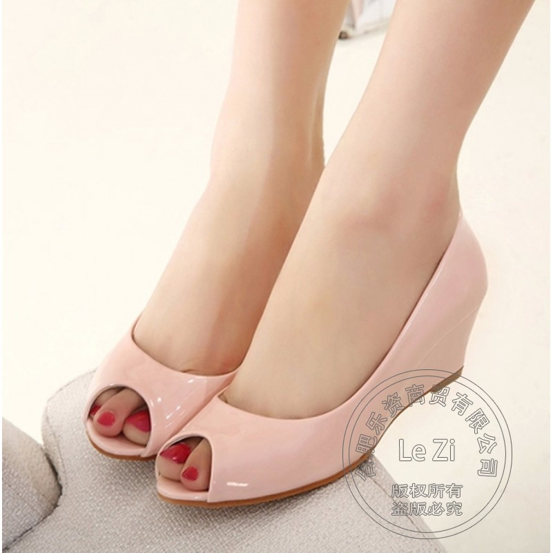 Popular Nude Patent Wedge-Buy Cheap Nude Patent Wedge lots from ...