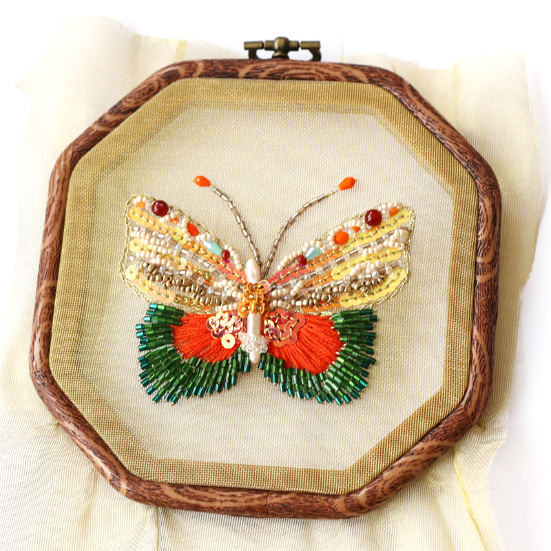 DIY Needlework Unfinished Hand Sewing Beads Embroidery Sets Creative Arts And Crafts Home Decor,butterfly