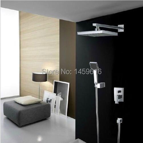 Antique Brass Bathroom Shower Faucet Set Bathtub Mixer Rain Shower Head lrs101