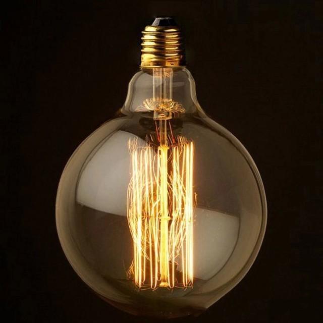 Buy G80 Led Filament E27 40w Bulb Online: Antique Vintage Edison E27 Light Bulb Art Deco Size 125mm
