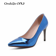 Fashion Sexy Pointed Toe Mirror Material High Heels For Women High Heeled Shoes Women's Pumps Ladies Luxury Brand Thin HeeL Shoe