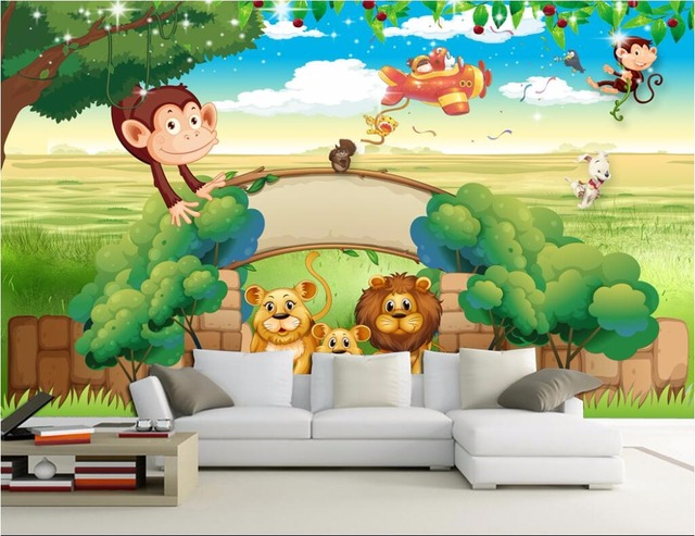 3d Wallpaper Custom Photo Non Woven Mural Cartoon Adventure