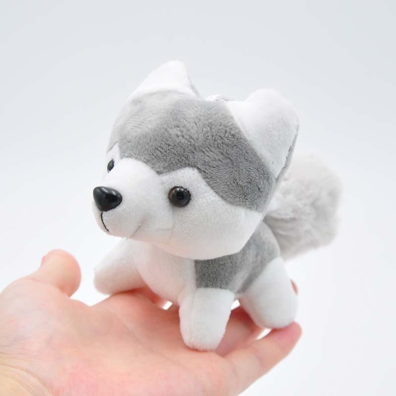 Image 5 - Kawaii Puppy Stuffed Toys 10/20cm Cute Simulation Husky Dog Plush Toys Stuffed Doll Kids Baby Toys Plush Husky Dolls-in Stuffed & Plush Animals from Toys & Hobbies