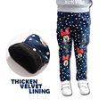 Thicken Winter Pants for Girl Warm Jeans Fashion Kids Minnie Printed Girls Jeans High Quality for Height 130-150cm