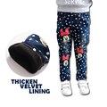 Engrossar Calças de Inverno para a Menina Quente Calça Jeans Moda Infantil Minnie Meninas Impressas Calça Jeans de Alta Qualidade para a Altura 130-150 cm