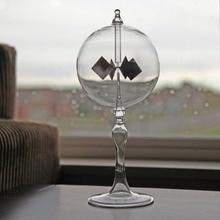 Moinho de luz de 20.5cm com 4 lâminas, moinho de vidro giratório com energia solar, para estudo e escritório casa casa