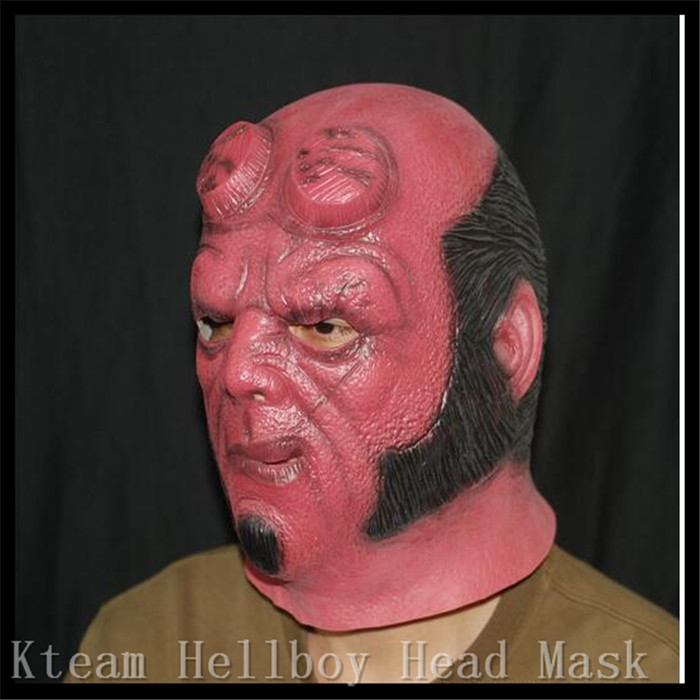 Hot!!! Movies Horror Movie Superhero Hellboy Cosplay Latex Masks Adult Party Masquerade Silicone Rubber Face Mask for Halloween