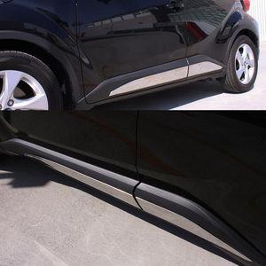 Image 2 - Sus304 de aço inoxidável porta lateral enfeitar guarnição sobreposição para toyota chr C HR 2017 up