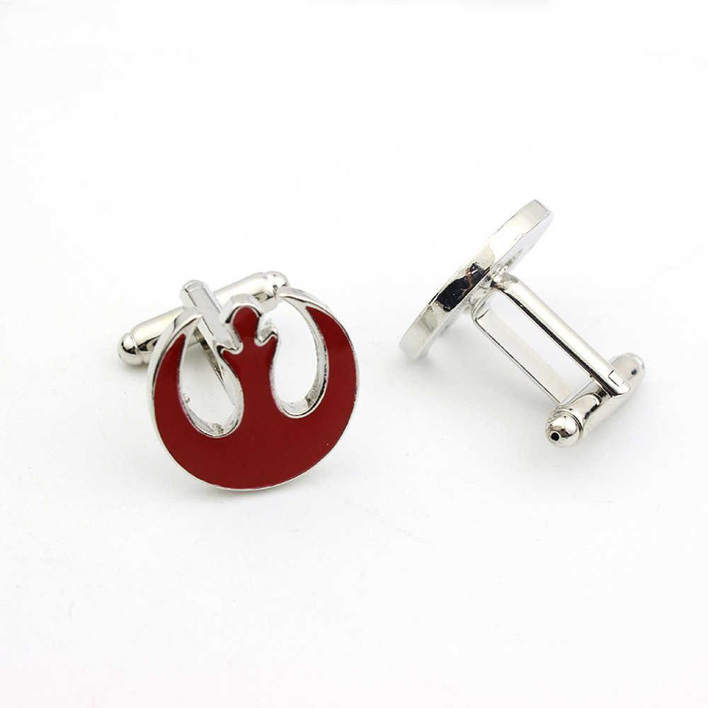 Hoge Kwaliteit Star Wars Red Enamel Alliantie Starbird Manchetknopen Shirt Merk Manchet Knoppen Mode Vrouwen En Mannen Manchetknopen Sieraden