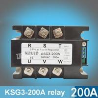 KSG3 200A Трехфазный твердотельные реле Напряжение Регулятор модуль 200A 4 20mA 0 5 В до 380 В AC твердотельные реле Мощность регулятор