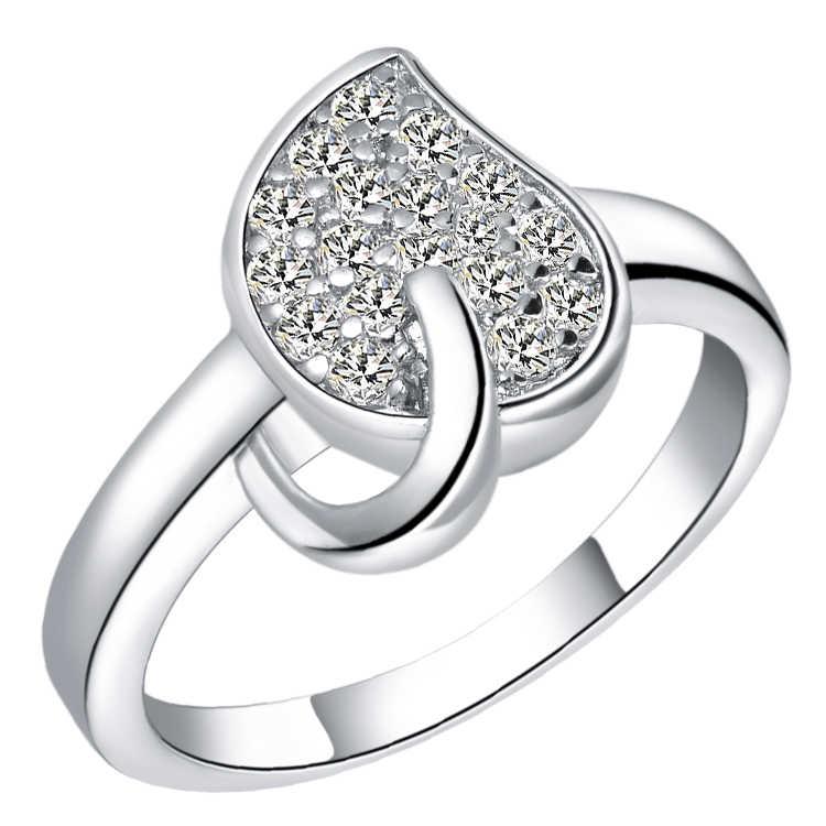 แหวนเงินเครื่องประดับออกแบบที่ไม่ซ้ำกันหลากหลายสี J367 ผู้หญิง cz ครบรอบ