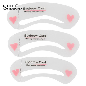 SHIDISHANGPIN 3Pcs Eyebrow Stencils Eye Brow DIY Drawing Guide Styling Shaping Grooming Template Card Makeup Tool