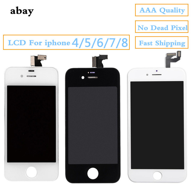 Качество AAA ЖК-дисплей для iphone 4 5 6 7 8 Замена сенсорного экрана с OEM дигитайзером для iphone 4 5 6 7 8 ЖК-панель