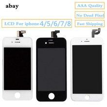 ЖК-дисплей качества AAA дисплей для iphone 4 5 6 7 8 сенсорный экран сборка Замена с OEM дигитайзер для iphone 4 5 6 7 8 ЖК-панель