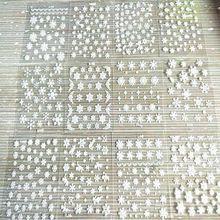 12 blätter Weihnachten Weiß Schneeflocken Design Nette 3D Nagel Kunst Aufkleber Wasser Transfer DIY Decals Weihnachten Nail art Aufkleber