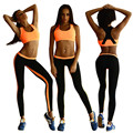 2016 2 Piece Set Women Suit for Fitness Skinny Top Legging Outfit Female Excise Workout Clothes Work Out Clothing