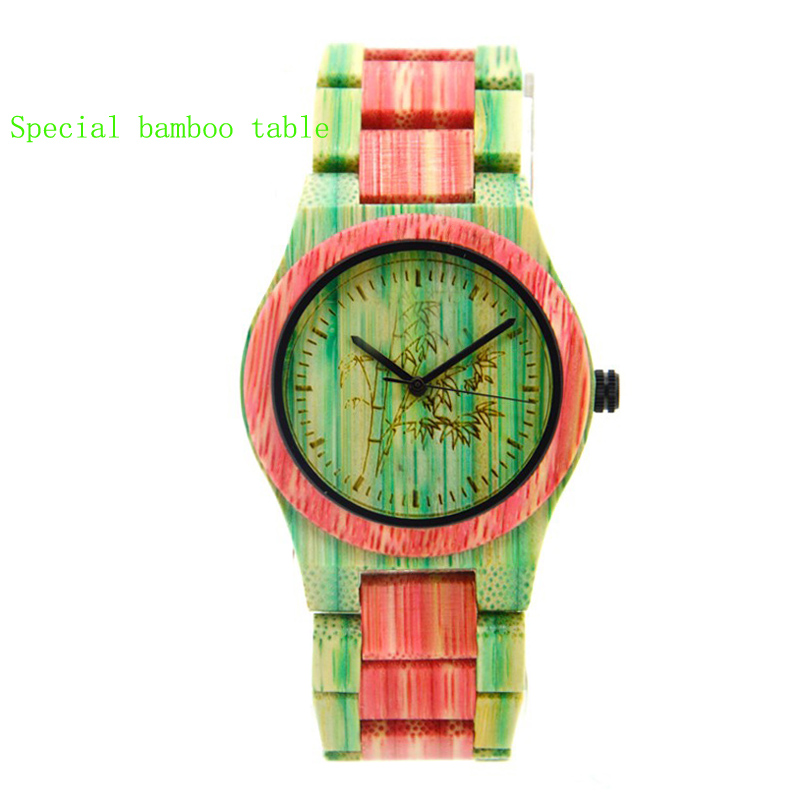Women's Watch Bamboo Conspicuous-Watch Special-Style Fashionable-Colour And Leads Wood