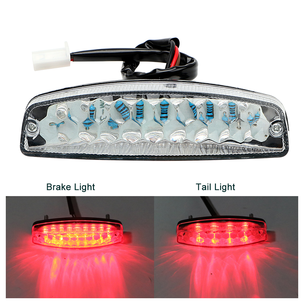 iTimo LED Rear Lights Motorcycle Lighting Moto Tail Brake Light Indicator Lamp For ATV Quad Kart Universal Cafe Racer Red ...