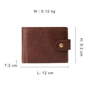 Image 5 - Gênes nouveauté Vintage RFID hommes portefeuilles Hasp fonctionnel triple portefeuille pour hommes grande capacité homme sac à main
