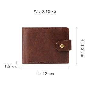 Image 5 - GENODERN 新到着ヴィンテージ RFID 男性財布ハスプ機能つ折り財布男性大容量の男性の財布