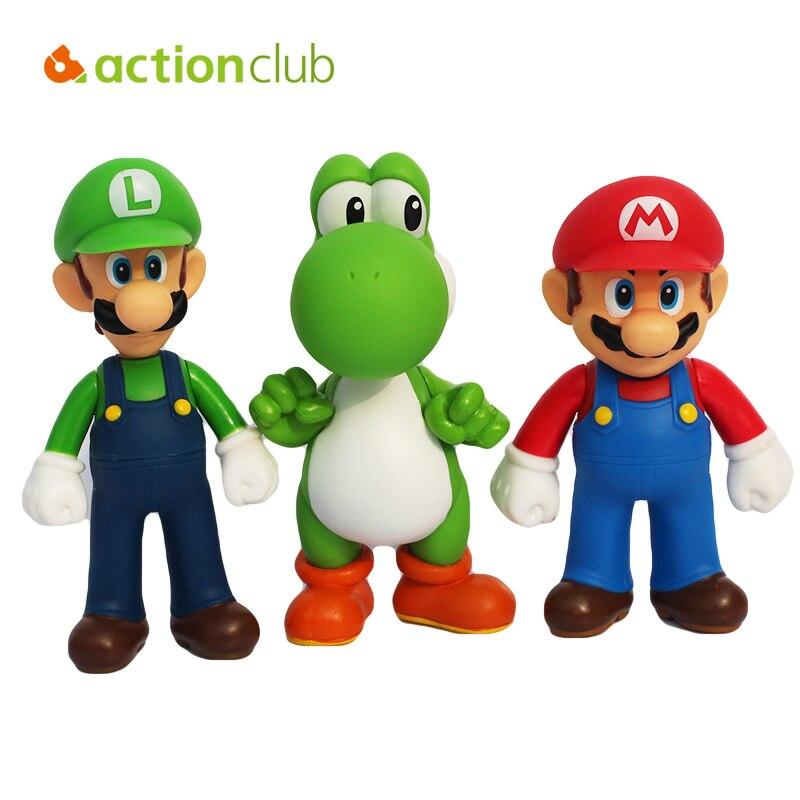 3pcs/lot <font><b>Super</b></font> <font><b>Mario</b></font> Action <font><b>Figure</b></font> High Quality PVC <font><b>Mario</b></font> <font><b>Figure</b></font> <font><b>Toys</b></font> 12cm For Kids <font><b>Toys</b></font> Dinosaur Action <font><b>Toys</b></font> Sets HT2832