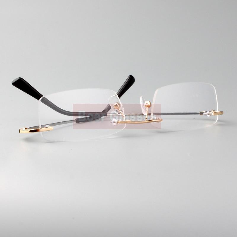 Rimless Glasses minne titan flexibla manglasögon glasögon - Kläder tillbehör - Foto 5